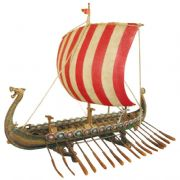 Hand Painted Viking Longboat/ship